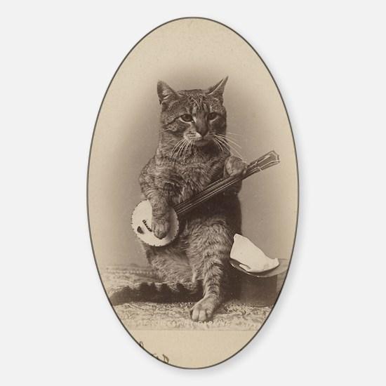 Cat_tee Sticker (Oval)