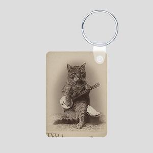 Cat_tee Aluminum Photo Keychain