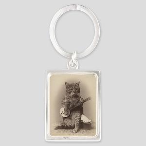 Cat_tee Portrait Keychain