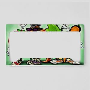 Veggie Gang 11x17 License Plate Holder
