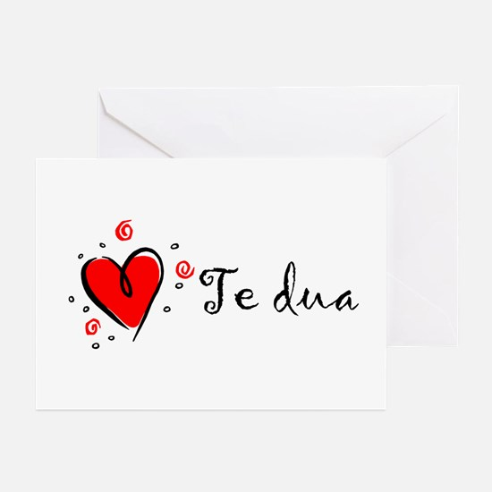 """I Love You"" [Albanian1] Greeting Cards (Package o"