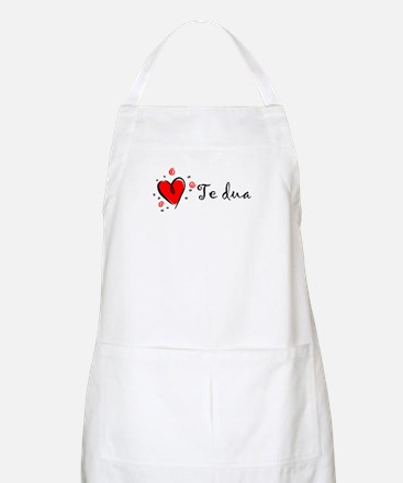 """I Love You"" [Albanian1] BBQ Apron"