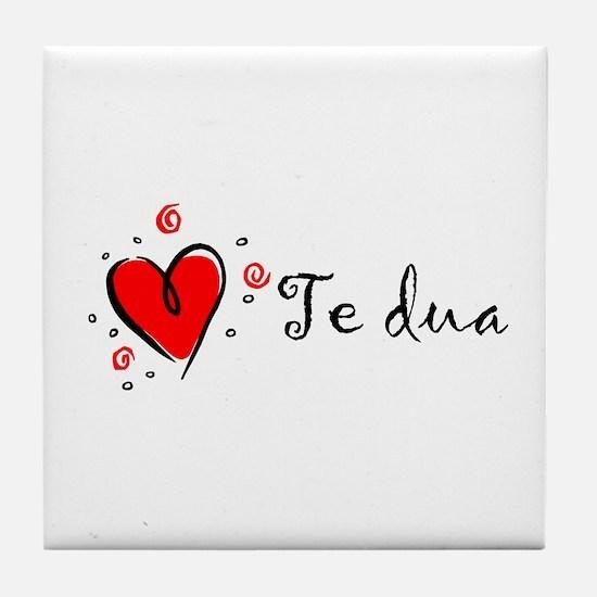"""I Love You"" [Albanian1] Tile Coaster"