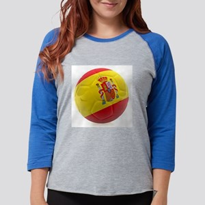 Spain world cup soccer ball Womens Baseball Tee