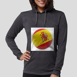 Spain world cup soccer ball Womens Hooded Shirt