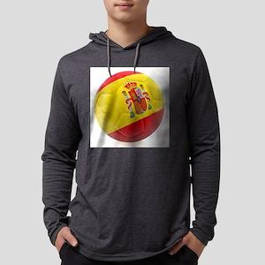 Spain world cup soccer ball Mens Hooded Shirt