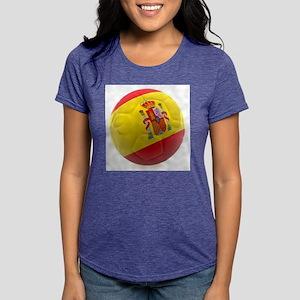 Spain world cup soccer ball Womens Tri-blend T-Shi