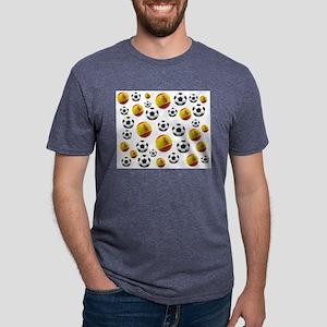 Spain Soccer Balls Mens Tri-blend T-Shirt