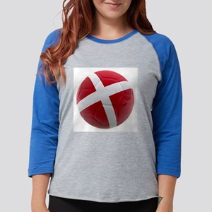Denmark world cup ball Womens Baseball Tee