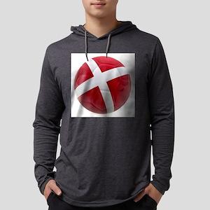 Denmark world cup ball Mens Hooded Shirt