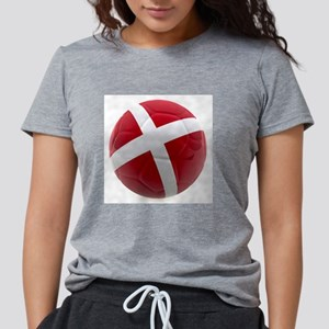 Denmark world cup ball Womens Tri-blend T-Shirt
