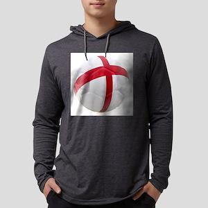 England World Cup Soccer Ball Mens Hooded Shirt