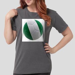 Nigeria World Cup Ball Womens Comfort Colors Shirt