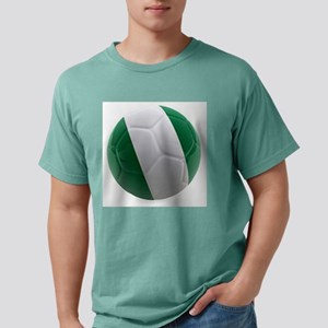 Nigeria World Cup Ball Mens Comfort Colors Shirt
