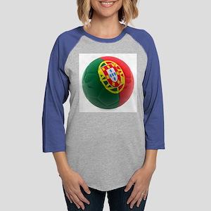 Portugal World Cup Ball Womens Baseball Tee