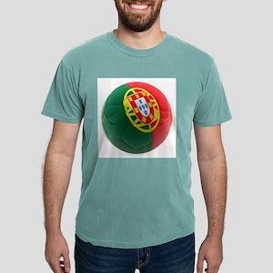 Portugal World Cup Ball Mens Comfort Colors Shirt