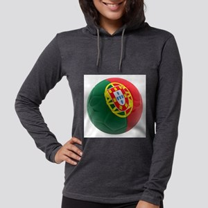 Portugal World Cup Ball Womens Hooded Shirt