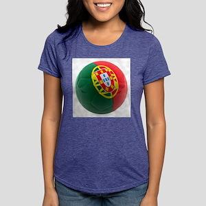 Portugal World Cup Ball Womens Tri-blend T-Shirt