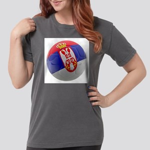 Serbia World Cup Ball Womens Comfort Colors Shirt
