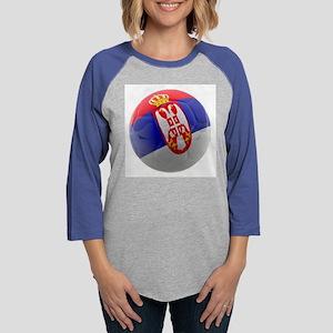 Serbia World Cup Ball Womens Baseball Tee