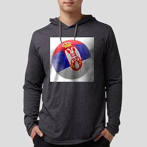 Serbia World Cup Ball Mens Hooded Shirt