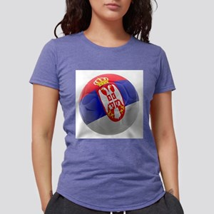 Serbia World Cup Ball Womens Tri-blend T-Shirt