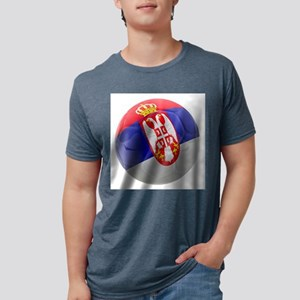 Serbia World Cup Ball Mens Tri-blend T-Shirt