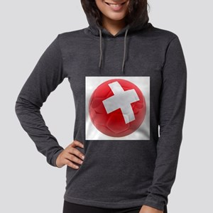 Switzerland World Cup Ball Womens Hooded Shirt