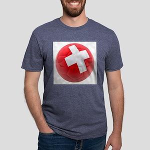 Switzerland World Cup Ball Mens Tri-blend T-Shirt