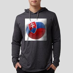 Slovakia World Cup Ball Mens Hooded Shirt