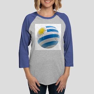 Uruguay World Cup Ball Womens Baseball Tee