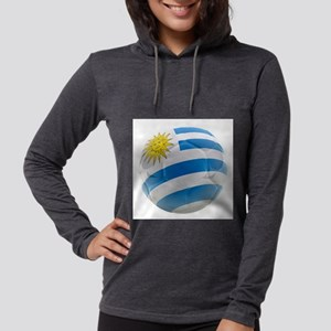 Uruguay World Cup Ball Womens Hooded Shirt