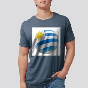 Uruguay World Cup Ball Mens Tri-blend T-Shirt