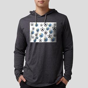 Uruguay Soccer Balls Mens Hooded Shirt