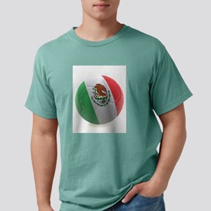 Mexico World Cup Ball Mens Comfort Colors Shirt