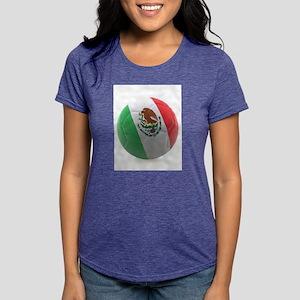 Mexico World Cup Ball Womens Tri-blend T-Shirt