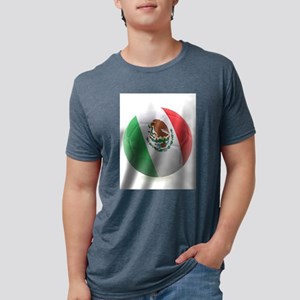 Mexico World Cup Ball Mens Tri-blend T-Shirt