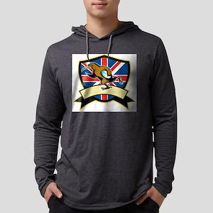 Rugby Kiwi Bird Britain Mens Hooded Shirt