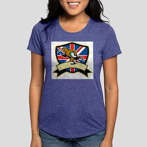 Rugby Kiwi Bird Britain Womens Tri-blend T-Shirt