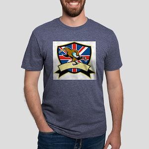 Rugby Kiwi Bird Britain Mens Tri-blend T-Shirt