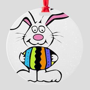 Bunny Egg Round Ornament