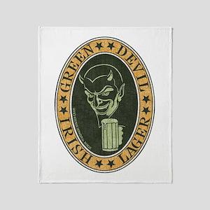 green-devil-ale-T Throw Blanket