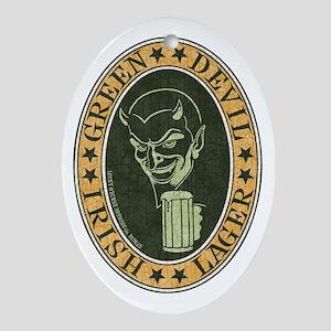 green-devil-ale-T Oval Ornament