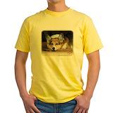 Corgi Mens Classic Yellow T-Shirts