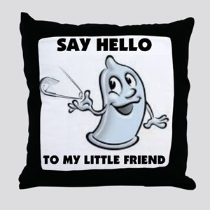 condom pin Throw Pillow