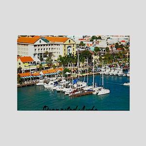 Oranjestad Marina Aruba11x11 Rectangle Magnet