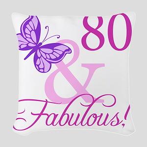 Fabulous_Plumb80 Woven Throw Pillow