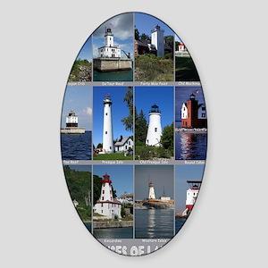 Lake Huron 9x12 Sticker (Oval)