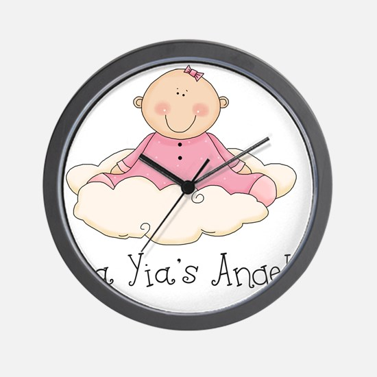 yia yias angel girl Wall Clock