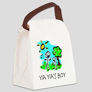 yia yias boy stick figure Canvas Lunch Bag